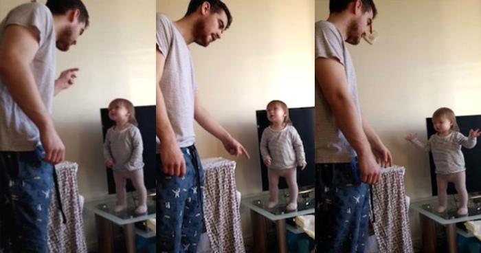 Όταν ο μπαμπάς μαλώνει την μικρή αλλά τσαούσα κόρη του – Το βίντεο με τις 48 εκατομμύρια προβολές