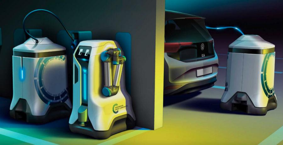 Αυτόνομα ρομπότ για φόρτιση ηλεκτρικών οχημάτων παρουσίασε η Volkswagen