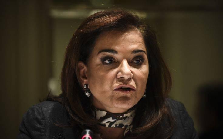 Μπακογιάννη: Εξαιρετική η επιλογή της Αικατερίνης Σακελλαροπούλου