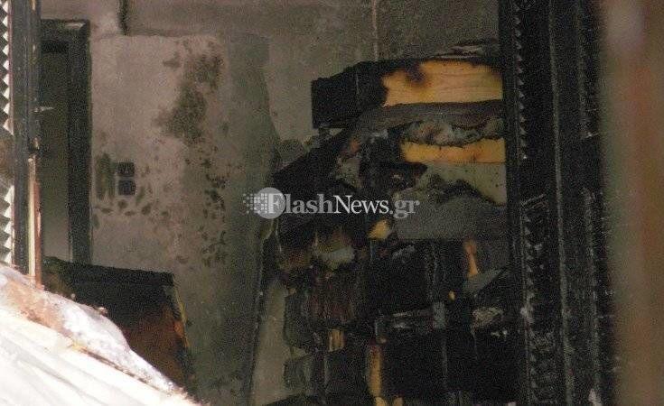 Πυρκαγιά σε σπίτι στα Χανιά λίγα λεπτά μετά την αλλαγή του χρόνου