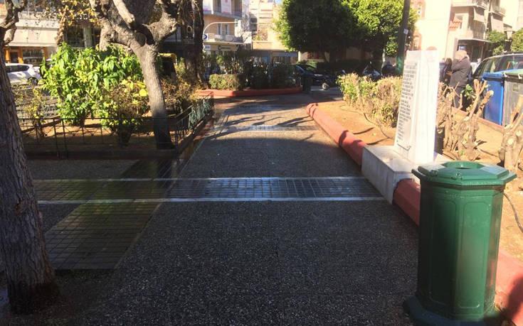 Τριπλή παρέμβαση στην πλατεία Αγίου Μελετίου στα Σεπόλια από τον δήμο Αθηναίων