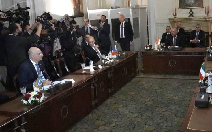 Δένδιας από Κάιρο: Αίγυπτος, Ιταλία και Γαλλία συμφώνησαν πως το μνημόνιο Τουρκίας – Λιβύης είναι άκυρο