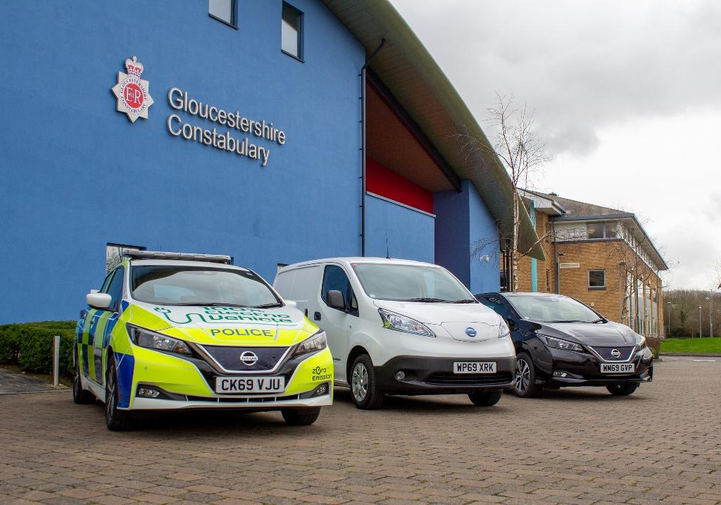 Με 75 νέα ηλεκτρικά οχήματα της Nissanπεριπολεί η αστυνομία του Gloucestershire, στο Ηνωμένο Βασίλειο