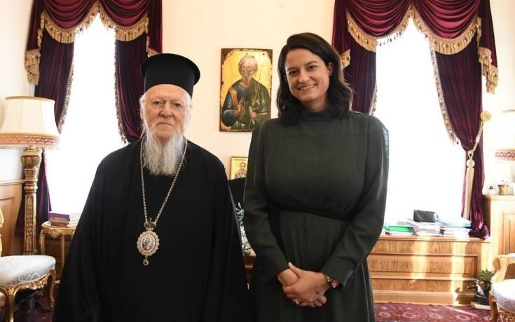 Συνάντηση Κεραμέως με τον Οικουμενικό Πατριάρχη Βαρθολομαίο