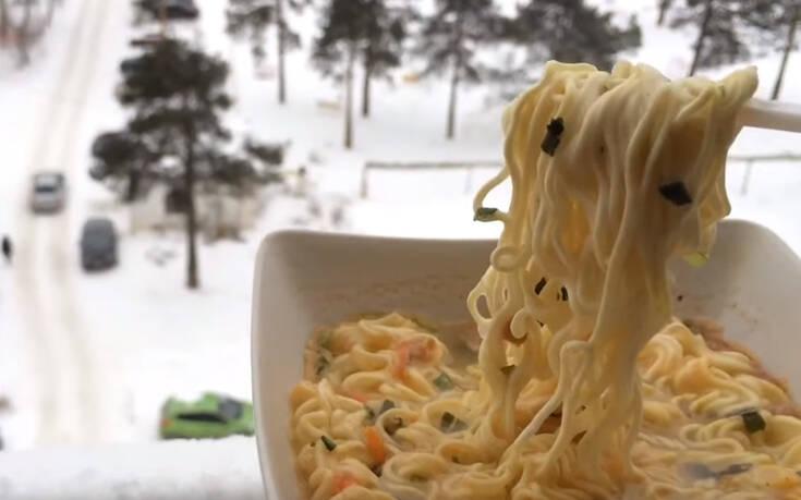 Όταν θες να φας μακαρονάδα στους -30 βαθμούς Κελσίου