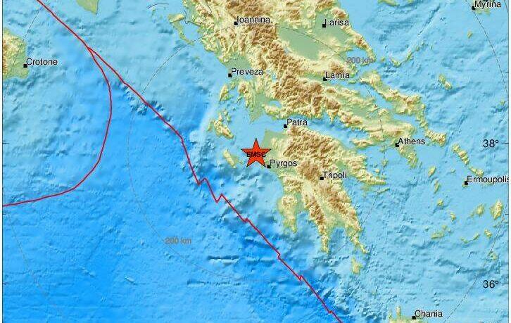 Σεισμός τώρα κοντά στον Πύργο Ηλείας – Έγινε αισθητός και στην Αθήνα
