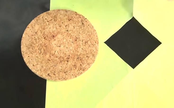 Πώς περνάς έναν μεγάλο κυκλικό δίσκο μέσα από μια μικρή τετράγωνη οπή