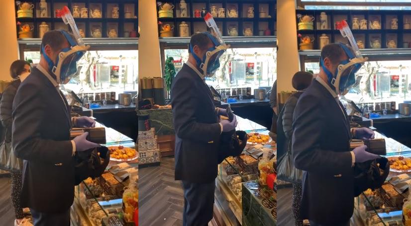 Κηφισιά: Άντρας φόρεσε μάσκα θαλάσσης με αναπνευστήρα λόγω κορονοϊού