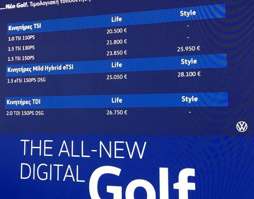 ΝέοV.W Golf 8ης γενιάς:«Φορτωμένο» με ότι πιο σύγχρονο έχει σήμερα η ψηφιακή-ηλεκτρονική τεχνολογία