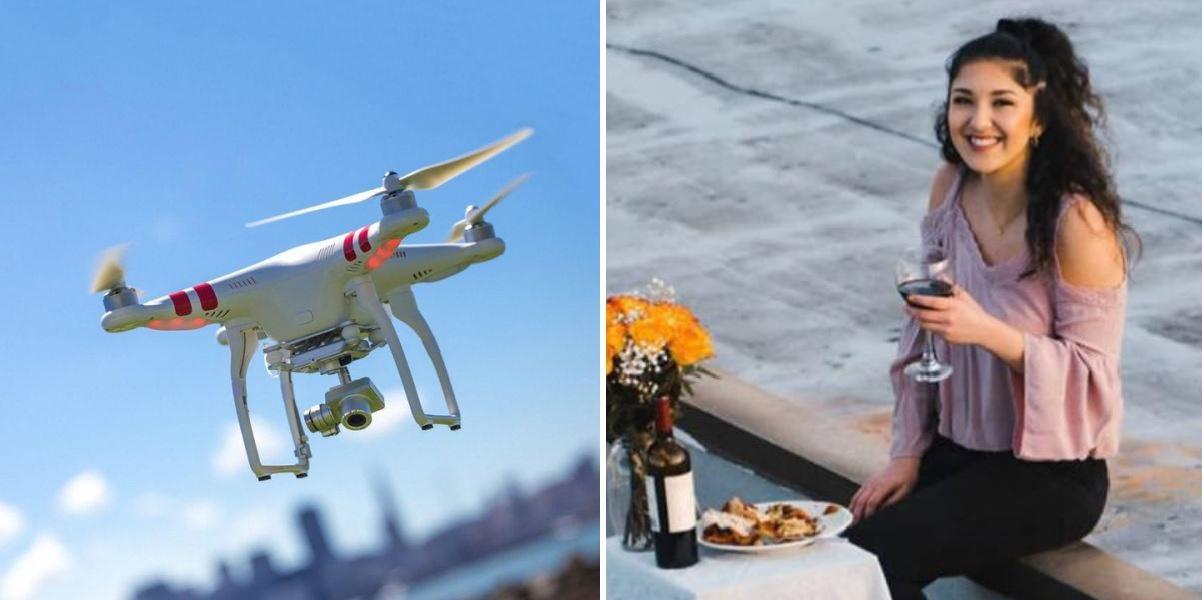 Γύπας σήκωσε drone για να δώσει τον αριθμό του σε κοπέλα στην απέναντι ταράτσα