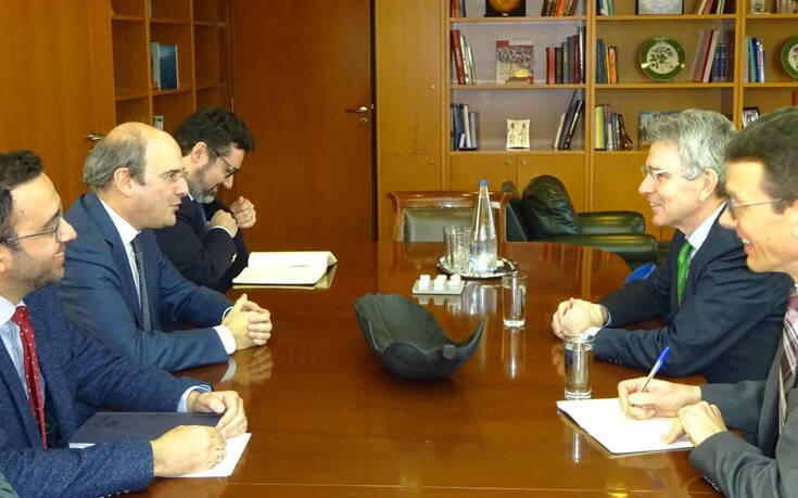 Συνάντηση Χατζηδάκη – Πάιατ: Στο τραπέζι ενεργειακά και τουρκικές προκλήσεις