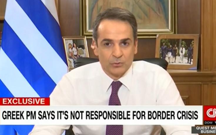Μητσοτάκης στο CNN: Η συμφωνία Ε.Ε.-Τουρκίας είναι νεκρή