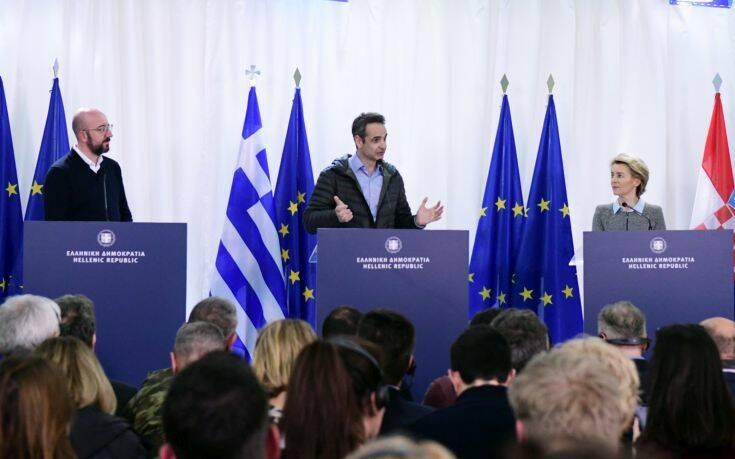 Μήνυμα αλληλεγγύης της ΕΕ από τον Έβρο για το προσφυγικό: Η Ελλάδα είναι η ασπίδα μας – Θα της δώσουμε 700 εκατ. ευρώ