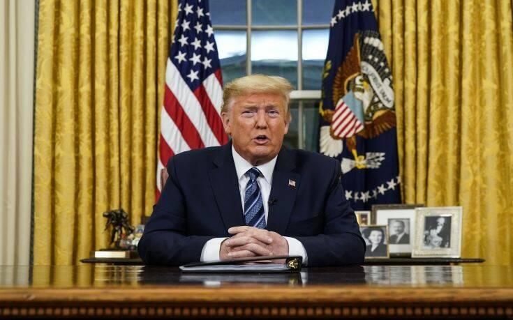 Κορονοϊός: Ο Τραμπ κλείνει την πόρτα των ΗΠΑ στην Ευρώπη
