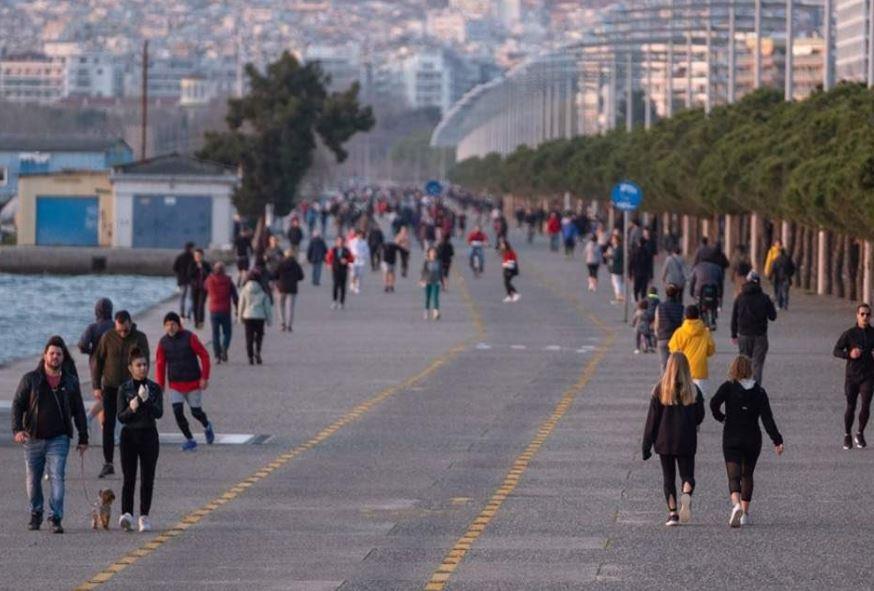 Κορωνοϊός : «Λουκέτο» στην παραλία Θεσσαλονίκης για 14 ημέρες μετά την κοσμοπλημμύρα της Δευτέρας (βίντεο)