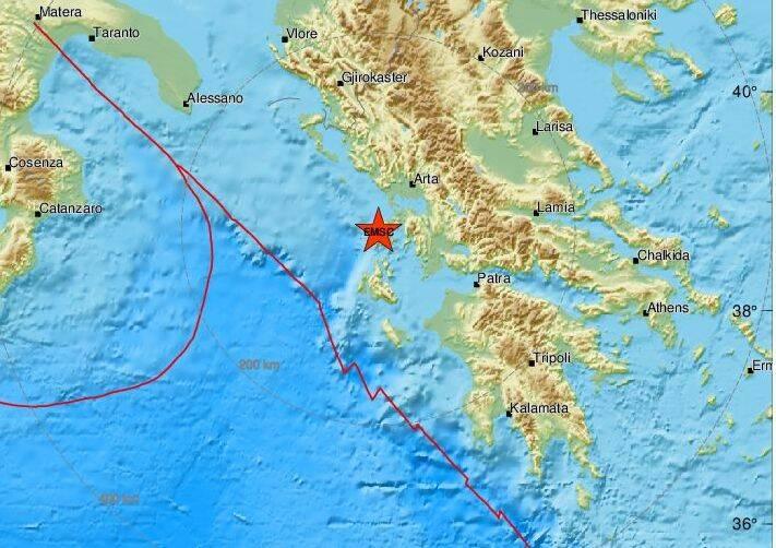 Σεισμός στη Λευκάδα τα ξημερώματα της Κυριακής