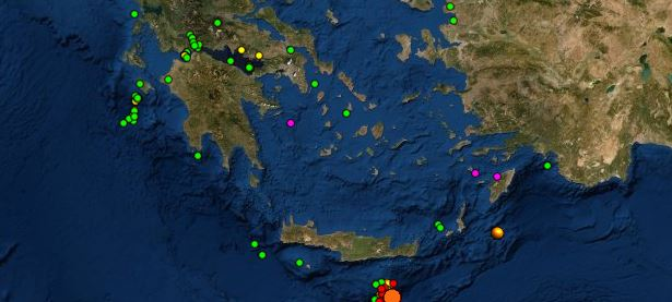 Νέος σεισμός ανοιχτά της Κρήτης