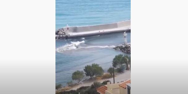 Τσουνάμι μικρής έντασης στην Κρήτη μετά από σεισμό (βίντεο)
