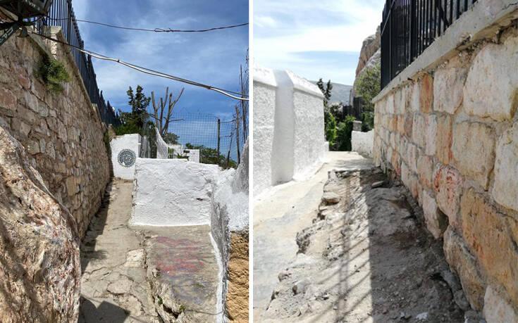 Αντιγκράφιτι επιχείρηση από τον δήμο Αθηναίων και στα Αναφιώτικα