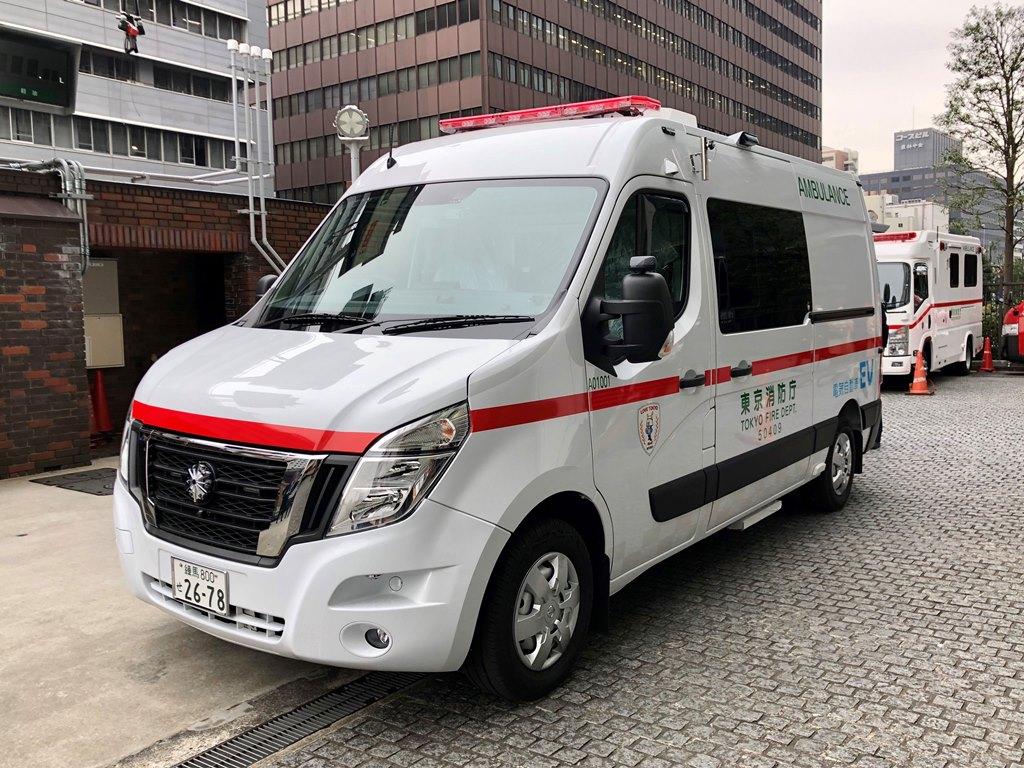 """Το Ασθενοφόρο Μηδενικών Εκπομπών της Nissan, γίνεται μέρος της πρωτοβουλίας """"Zero Emission Tokyo"""""""