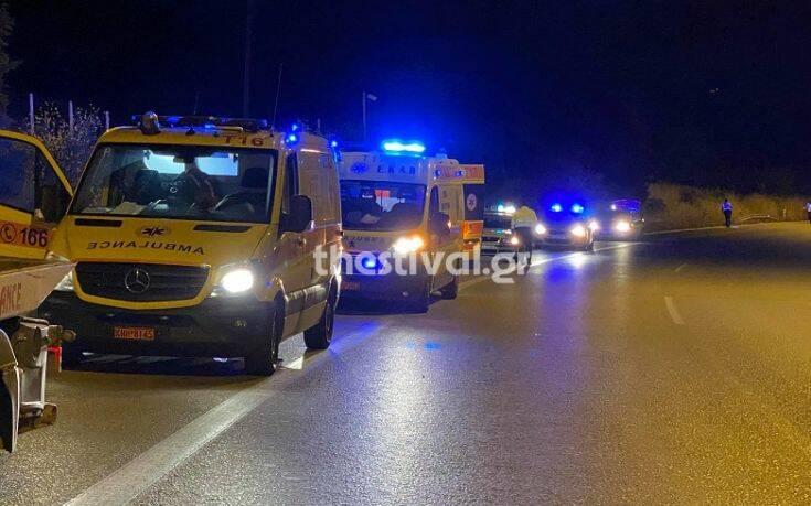 Αιματηρό τροχαίο δυστύχημα στη Θεσσαλονίκη