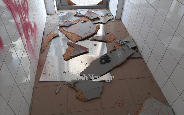 Βανδάλισαν σχολείο στην Κρήτη – Σπασμένες πόρτες και σπρέι στους τοίχους