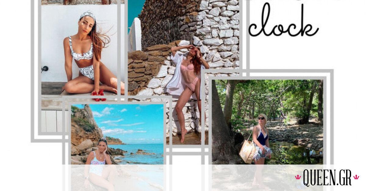 Τι φόρεσαν στην παραλία οι Ελληνίδες celebrities αυτό το τριήμερο