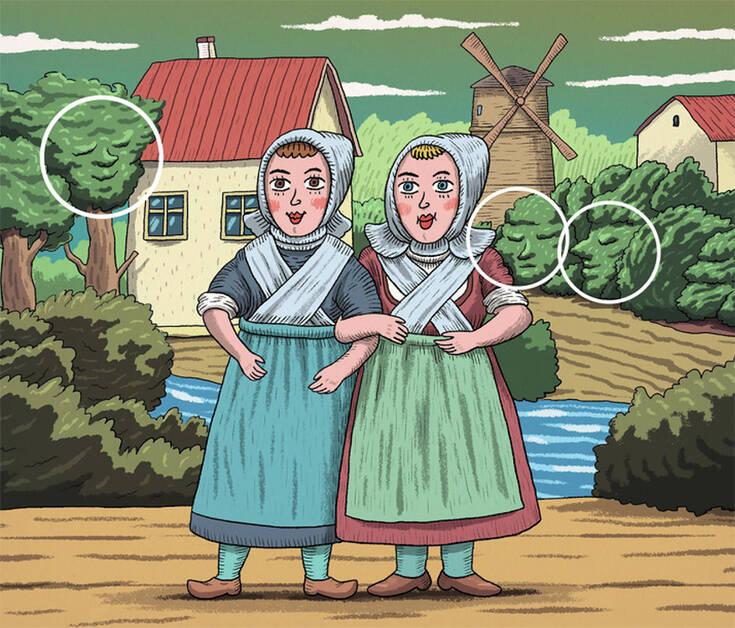 Η εικόνα με τις δύο γυναίκες και τα κρυμμένα πρόσωπα
