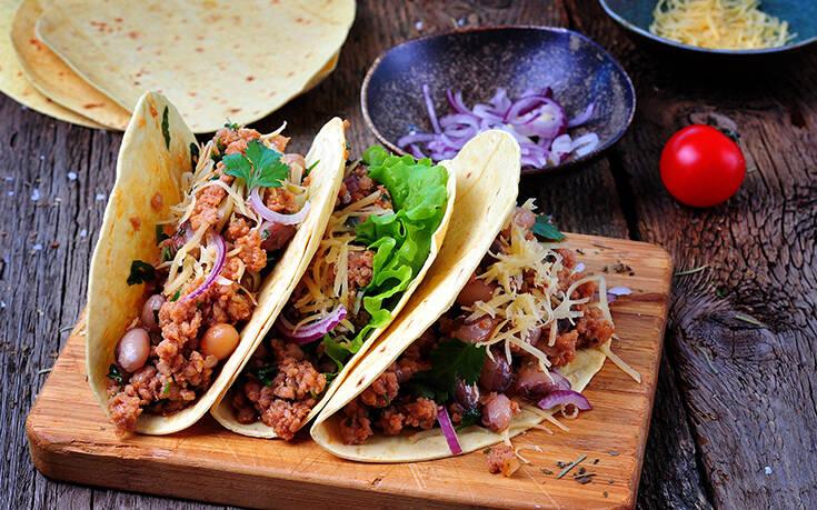 Μεξικάνικα τάκος με κιμά
