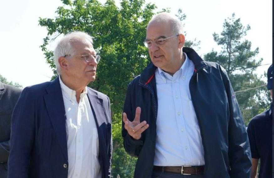 Δένδιας – Μπορέλ στον Έβρο: Τα ελληνικά σύνορα είναι τα σύνορα της ΕΕ