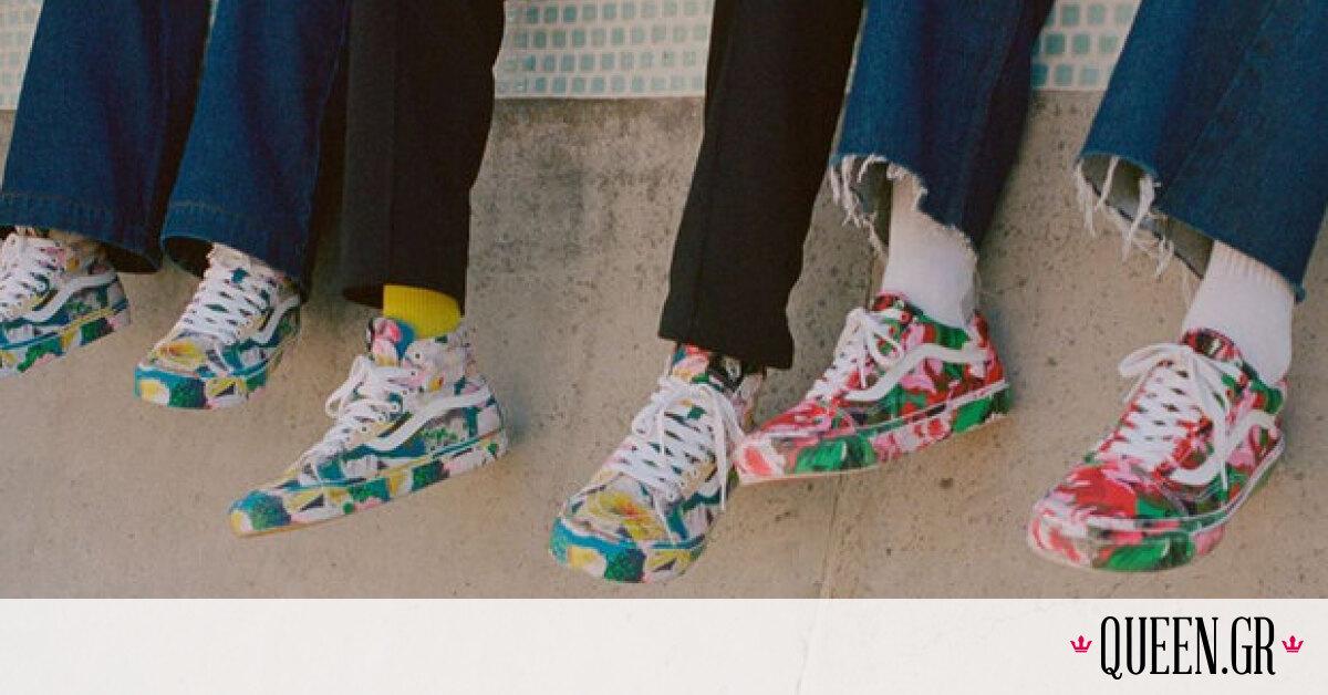 Kenzo X Vans: Μια συνεργασία-έκπληξη γεμάτη έντονα χρώματα και λουλούδια