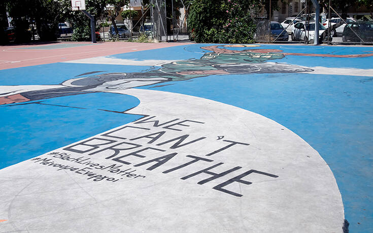 «We can't breathe» και στα Σεπόλια: Η προσθήκη στο υπέροχο γκράφιτι του Γιάννη Αντετοκούνμπό