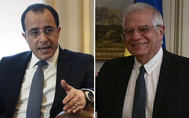 Τουρκικές προκλήσεις, ευρωτουρκικά και η κατάσταση στην Κύπρο στο επίκεντρο συνομιλιών Χριστοδουλίδη – Μπορέλ
