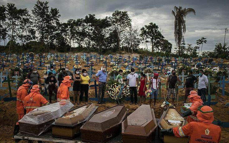 Πάνω από 50.000 οι νεκροί στην Βραζιλία λόγω κορονοϊού