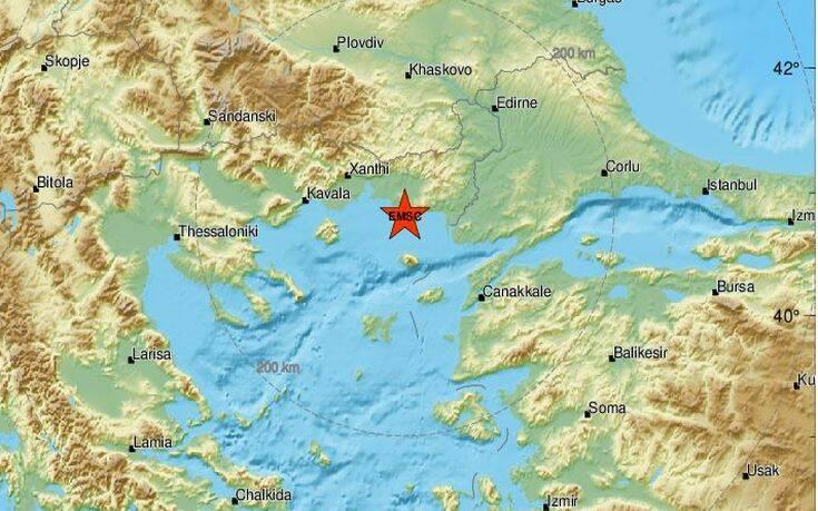 Σεισμός τώρα δυτικά της Αλεξανδρούπολης