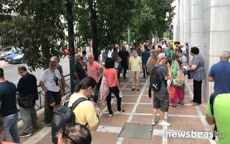 Συγκέντρωση διαμαρτυρίας πρώην εργαζομένων στην «Ελευθεροτυπία» στη Σταδίου