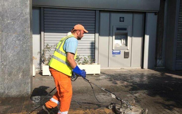 Στο Μεταξουργείο η κυριακάτικη καθαριότητα του Δήμου Αθηναίων