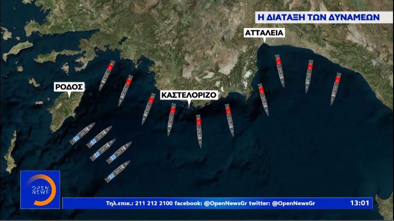 Ελληνικές φρεγάτες παρακολουθούν κάθε κίνηση του τουρκικού στόλου [βίντεο]