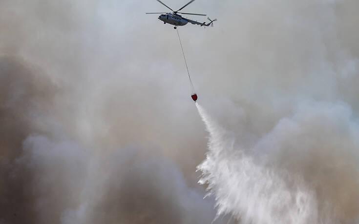 Μεγάλη φωτιά τώρα στην Πρέβεζα