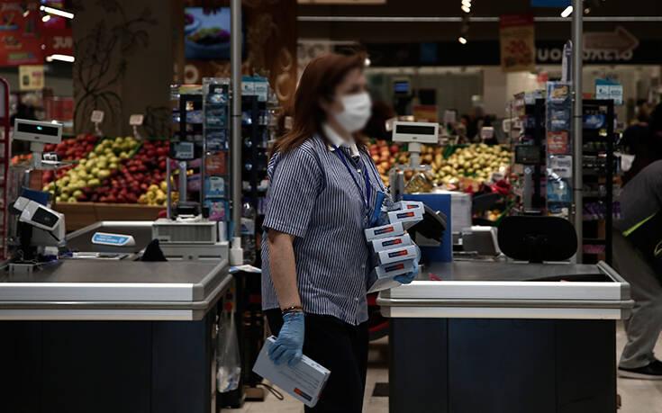 Υποχρεωτική η χρήση μάσκας από αύριο για όλους στα σούπερ μάρκετ