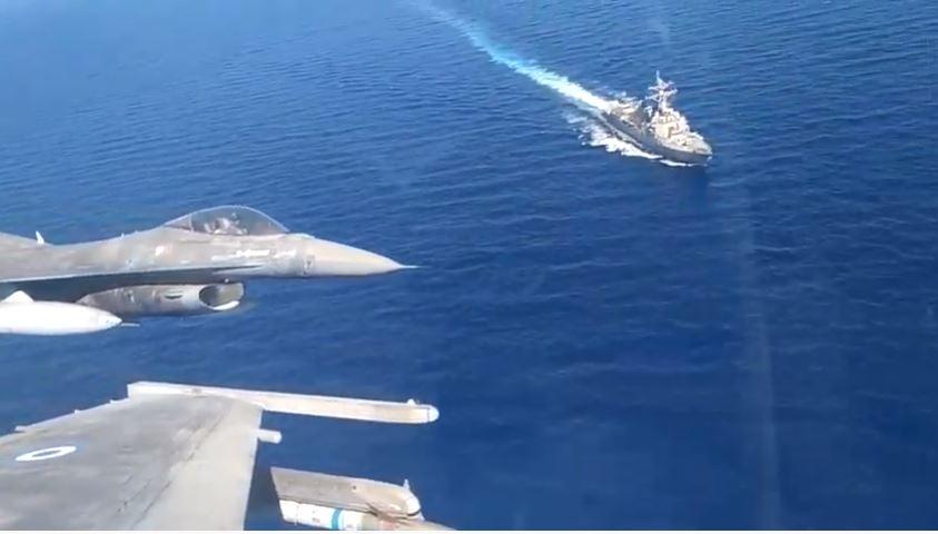 Κοινή αεροναυτική άσκηση Ελλάδας-ΗΠΑ νότια της Κρήτης [βίντεο]