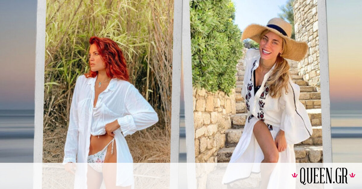Cover-ups: Τι φορούν οι celebrities πάνω από το μαγιό στην παραλία;