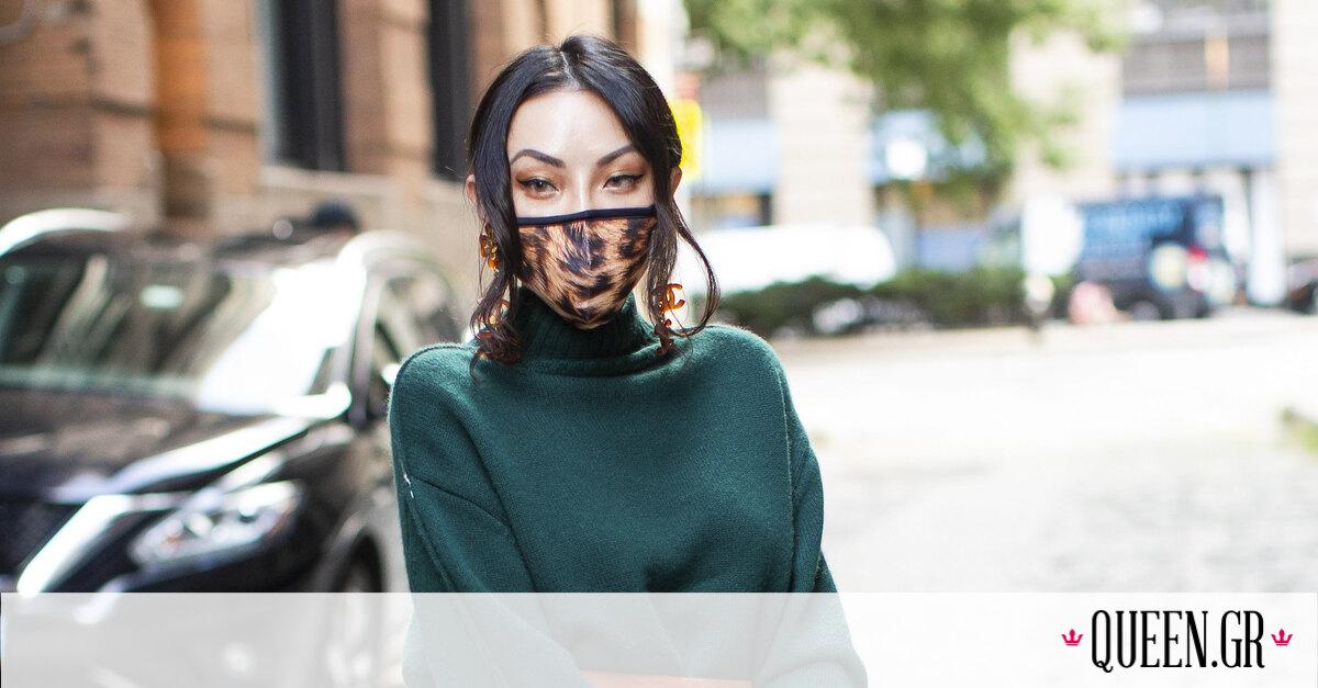 20 street style looks με πρωταγωνιστή τη μάσκα προσώπου μας δείχνουν τη νέα όψη της μόδας