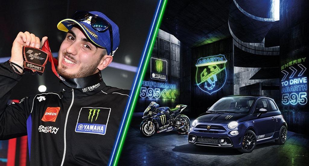Τι δουλειά έχει ένας αναβάτης του MotoGP σε πίστα με το Abarth 595 Monster Energy