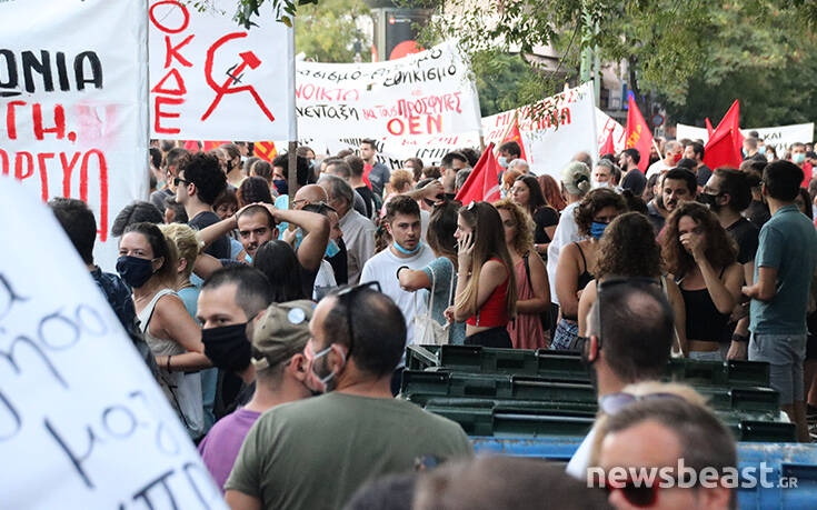 Πορεία αλληλεγγύης στην Αθήνα για τους πρόσφυγες: Έκλεισαν 3ης Σεπτεμβρίου και Πατησίων