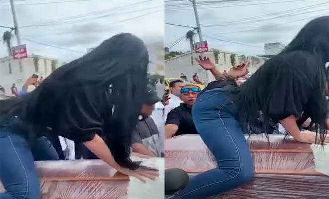 Αποχαιρέτησε τον νεκρό με twerking πάνω στο φέρετρο [Βίντεο]