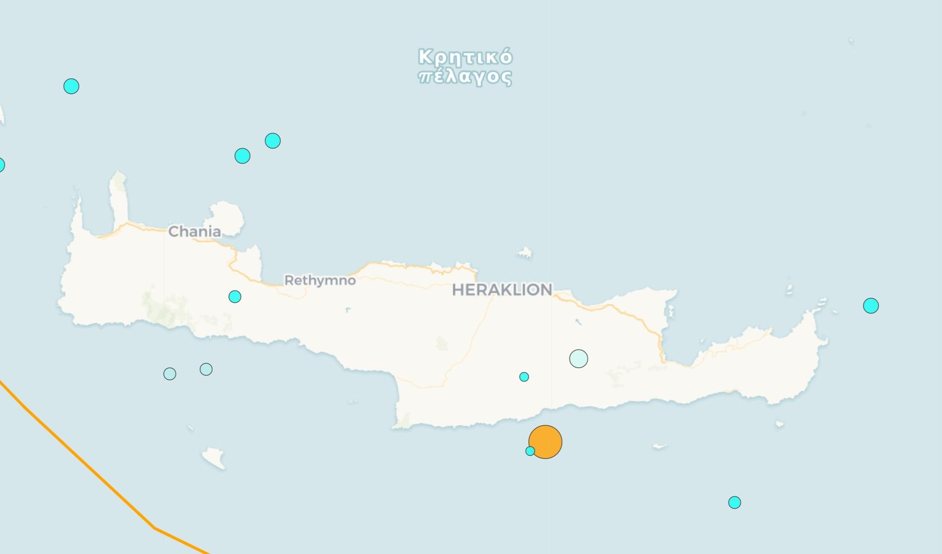 Κρήτη: Ισχυρός σεισμός νότια της Κρήτης
