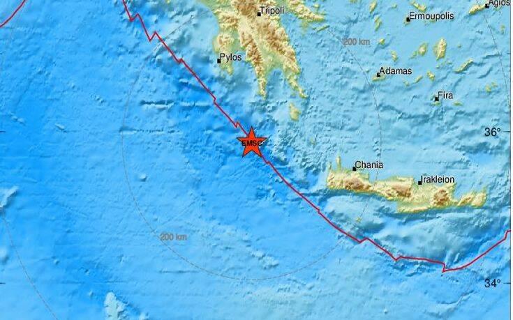 Σεισμός τώρα νότια του Γυθείου