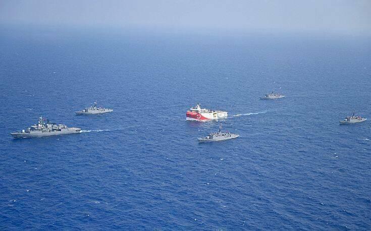 «Προτρέπουμε την Τουρκία να σταματήσει τις προκλητικές θαλάσσιες επιχειρήσεις»