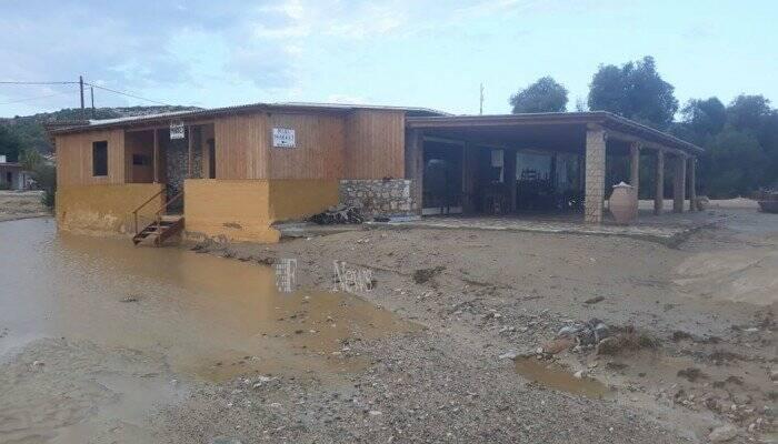 Κακοκαιρία Ιανός: Σημαντικές ζημιές από τις έντονες βροχοπτώσεις στη Γαύδο